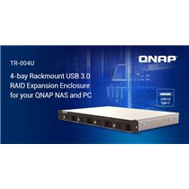 "QNAP EXPANSION, TR-004U, 4-Bay 3.5"" SATA HDD USB 3.0 type-C hardware RAID external enclosure. USB-C to USB-A cable included. Exp"