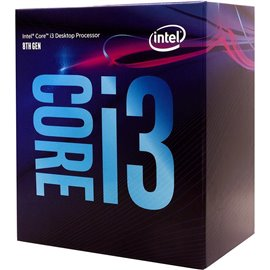 IN CPU Core i3-8100, BX80684I38100, 6M Cache, 3.60 GHz, LGA1151, 4 cores, Max Memory Size: 64 GB, Dual Memory Channel: DDR4-2400